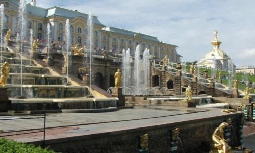Zdjęcie ROSJA / St. Petersburg / Peterhof / Wielka Kaskada