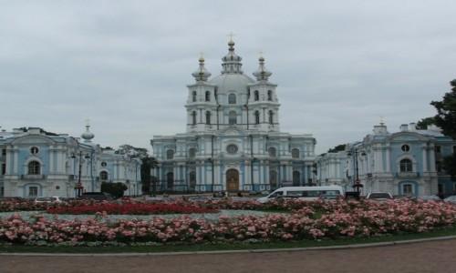 Zdjecie ROSJA / - / Petersburg / Smolny Sobór Zmartwychwstania Pańskiego