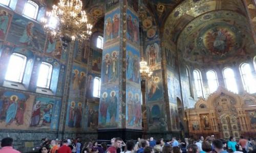 Zdjecie ROSJA / St Petersburg / Sobór Zmartwychwstania Pańskiego,  / kolos