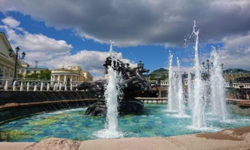 Zdjecie ROSJA / Rosja / Moskwa / Fontanna w Moskwie
