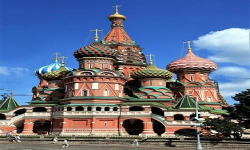 Zdjęcie ROSJA / Moskwa / Kreml / Sobór Wasyla Błogosławionego