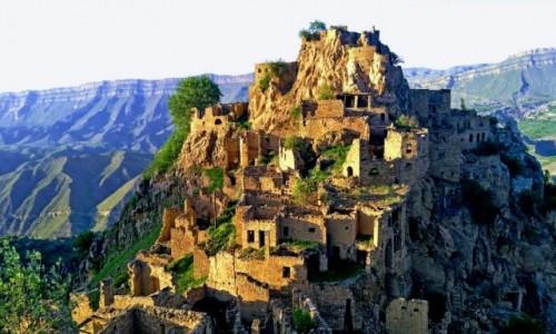 Zdjecie ROSJA / Dagestan / Gamsult / Dagestan - opuszczona wieś Gamsutl