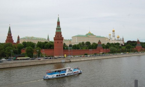 Zdjecie ROSJA / Centralny Okręg Federalny / Moskwa / Moskiewski standard czyli widok na Kreml