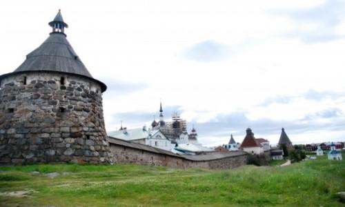 Zdjecie ROSJA / Kraj Zapoliarnyj / Wyspy Sołowieckie na morzu Białym / Monastyr  - wyspy Sołowieckie