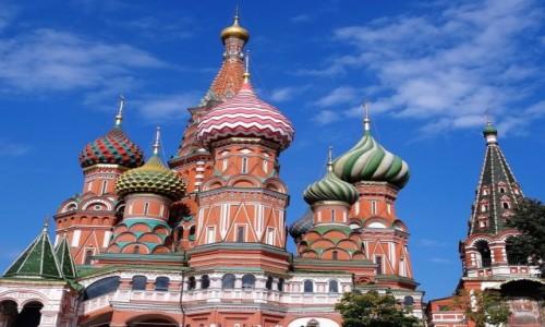 Zdjęcie ROSJA / Moskwa / Sobór Wasyla Błogosławionego / Pozdrowienia z Moskwy