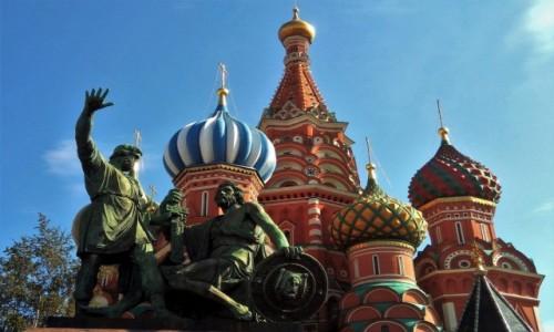 Zdjęcie ROSJA / Moskwa / Plac Czerwony / Minin i Pożarski radzą, jak obronić Moskwę przed polskim wojskiem