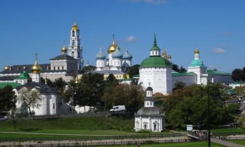 ROSJA / Złoty Pierścień Moskwy / Siergiew Posad / Ławra Troicko-Siergiejewska - rosyjska Częstochowa