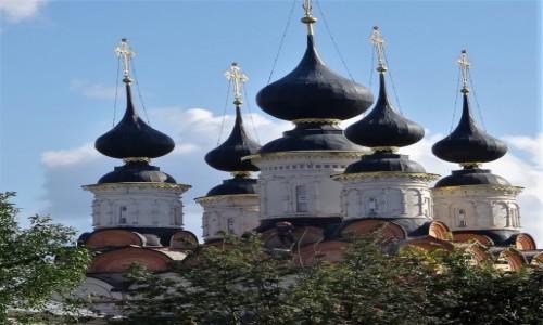 Zdjęcie ROSJA / Złoty Pierścień Moskwy - Suzdal / Cerkiew Antipievskaja / Kopuły i kopułki