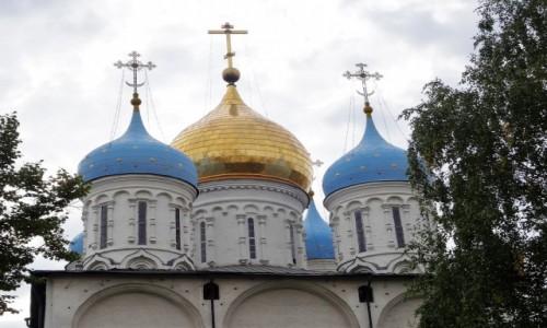 Zdjęcie ROSJA / Moskwa  / Nowospasskij Monastyr / Kopuły i kopułki