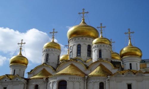 Zdjęcie ROSJA / Moskwa / Kreml - Sobór Zwiastowania / Kopuły i kopułki