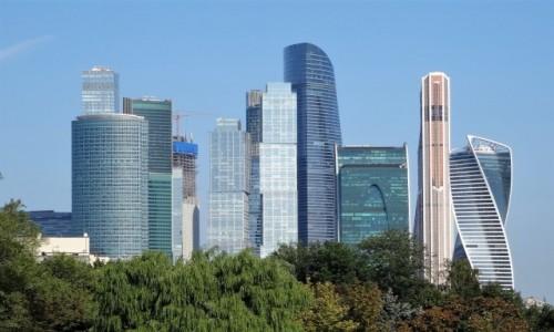 Zdjecie ROSJA / Moskwa / Moskiewskie MIędzynarodowe Centrum Biznesowe / Moskiewskie centrum biznesowe- kilka wieżowców w jednym miejscu