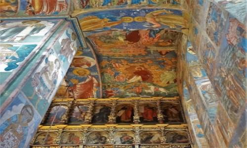 ROSJA / Złoty Pierścień Moskwy / Jarosław / Piękne freski w cerkwi proroka Eliasza