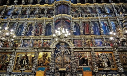 Zdjecie ROSJA / Złoty Pierścień Moskwy / Jarosłąw / Ikonostas w cerkwi proroka Eliasza