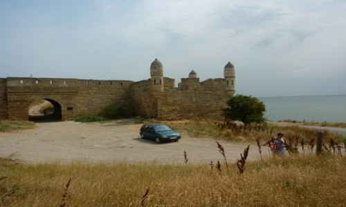 Zdjecie ROSJA / Krym / Ruiny twierdzy rzymskiej w Kerczu / Samochodem na Krym