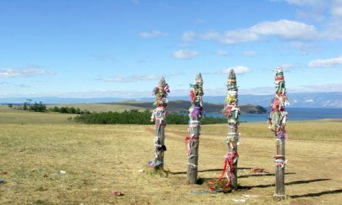 Zdjecie ROSJA / Syberia / Wyspa Olchon / Bajkał- miejsce szamańskich obrzędów