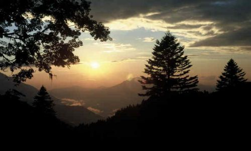 ROSJA / Kaukaz / Kaukaz / Zachód słońca