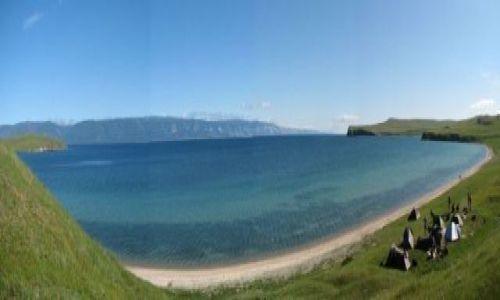 Zdjecie ROSJA / Bajkal / Olchon / Oboz nad zatoczka