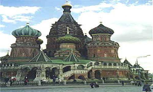 Zdj�cie ROSJA / brak / Moskwa / Cerkiew Wasyla B�ogos�awionego w Moskwie