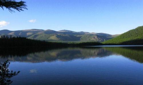 Zdjecie ROSJA / Sajany ZAchodnie / Jezioro Posaryn / lustereczko
