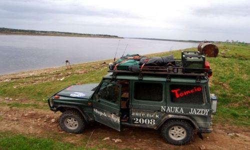Zdjęcie ROSJA / Archangielsk / rzeka Dvina pod Archangielskiem / na rzeką