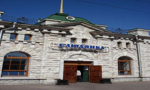 Zdjecie ROSJA / Irkucka Oblast / Słudianka / Marmurowy Dworzec w Słudiance