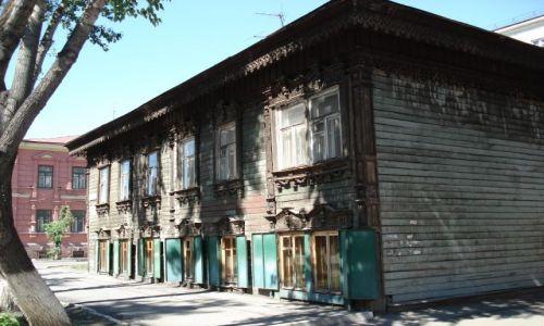 Zdjecie ROSJA / Irkucka Oblast / Irkuck / Drewniana architektura Irkucka