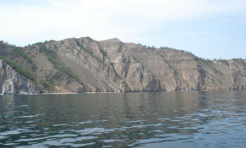 Zdjęcie ROSJA / Irkucka Oblast / Wyspa Olchon / Bajkalski krajobraz - skały