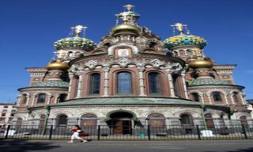 Zdjęcie ROSJA / - / Sankt Petersburg. / Sobór Zmartwychwstania Pańskiego (Cerkiew na Krwi).