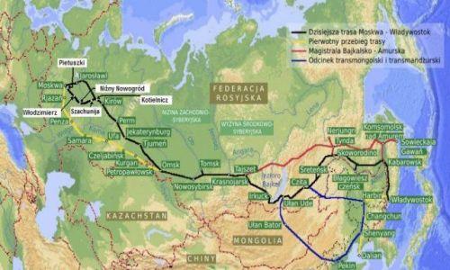 Zdjecie ROSJA / -Syberia / Kraj / mapa azji