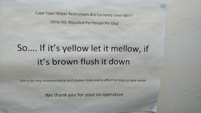Zdjęcia: hostel, CapeTown, problemy z wodą w Kapsztadzie, RPA