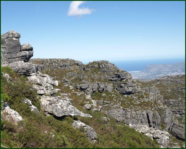 Zdjęcia: z góry stołowej, Kapsztad, a niby stołowe to płaskie, RPA