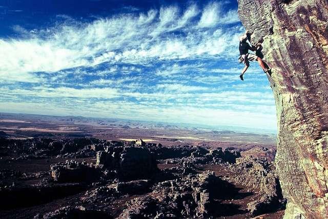 Zdjęcia: Cedar Rouge 6c+, południowe RPA, Jacek Kudlaty na Cedar Rouge 6c+ w Rockland, RPA
