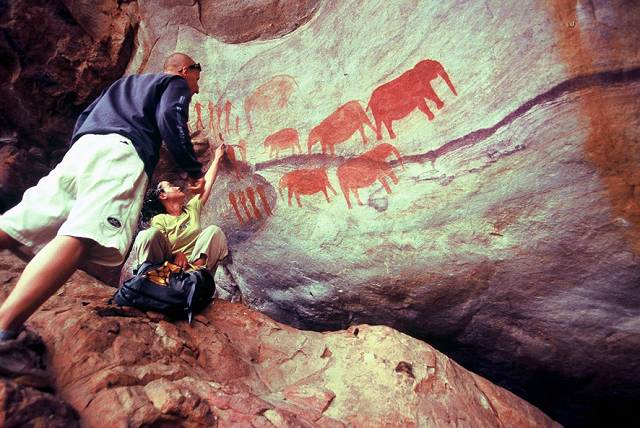 Zdjęcia: Stadsaal, Góry Cederberg, Kilkusetletnie malowidła naskalne buszmenów, RPA
