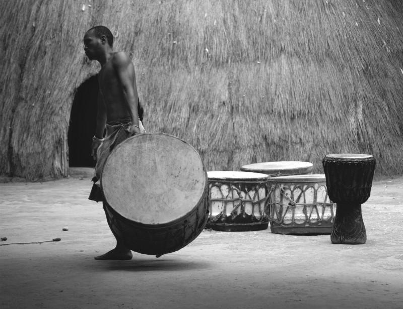 Zdjęcia: granica RPA i Swaziland, okolice Swaziland , perkusista, RPA