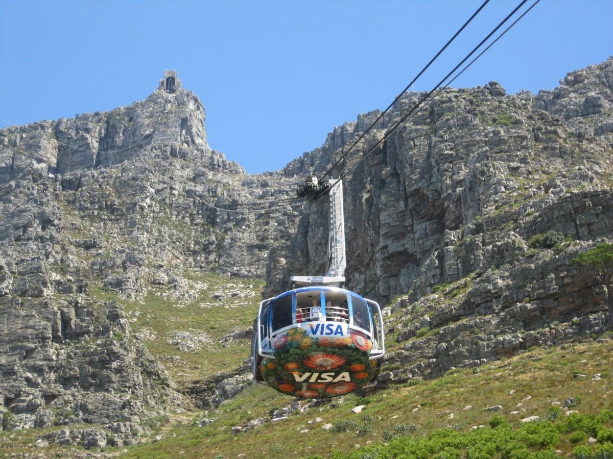 Zdjęcia: Góra Stołowa, Kapsztad, Kolejka na Górę Stołową, RPA