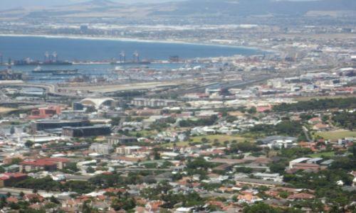 Zdjecie RPA / RPA / Widok z Góry Stołowej / Miasto  Kapsztad   RPA