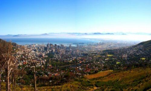 Zdjecie RPA / - / Góra Stołowa / Panorama Kapsztadu z Góry Stołowej