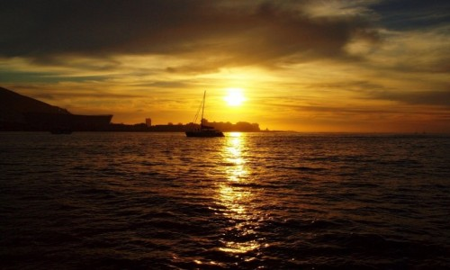 Zdjecie RPA / - / Kapsztad / Zachód słońca