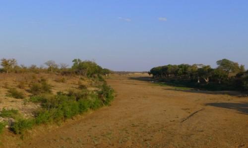 Zdjecie RPA / Pół - wsch. RPA  / Park Narodowy Krugera / Wyschnięta rzeka