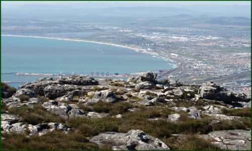 Zdjęcie RPA / Kapsztad / z góry stołowej / kawałek miasta