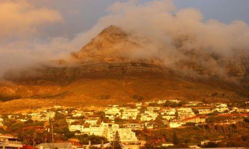 Zdjecie RPA / Cape / Town / Góra Stołowa o zachodzie