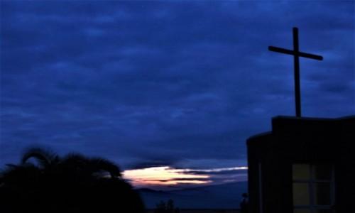 Zdjęcie RUANDA / Północ / Ośrodek misyjny  / Ostanie minuty zachodu