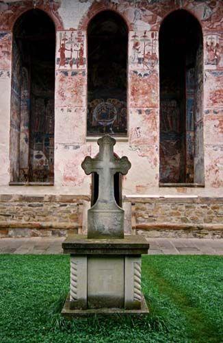 Zdj�cia: Moldovita, Bukowina, w klasztorze w Moldovicie, RUMUNIA