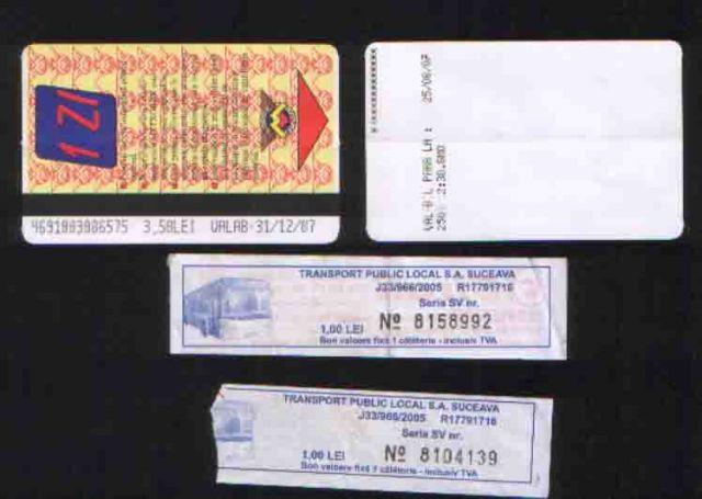 Zdjęcia: Bukareszt, Suczawa, Bilety - komunikacja miejska, RUMUNIA