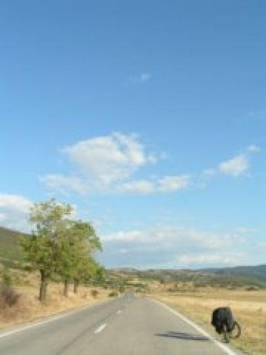 Zdj�cia: Moldova Neu, Prze�om Dunaju, Droga wzd�u� Dunaju, RUMUNIA