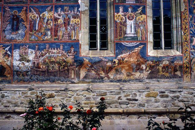 Zdjęcia: monastyr w Moldovita, Bukowina, historia malowana, RUMUNIA