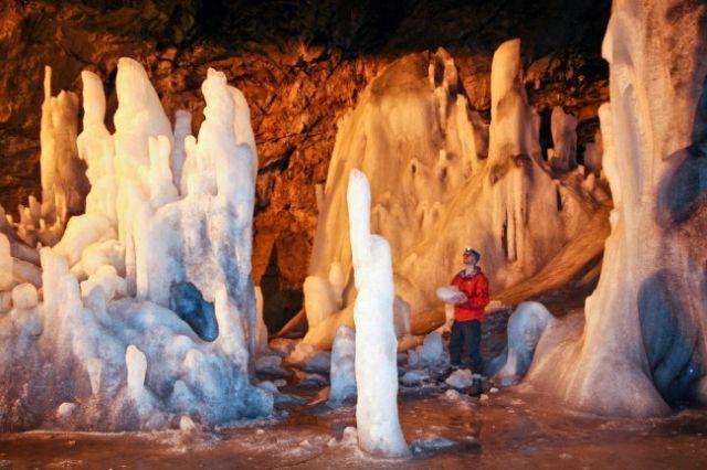 Zdjęcia: Scarisoara, gory Apuseni, lodowa jaskinia, RUMUNIA
