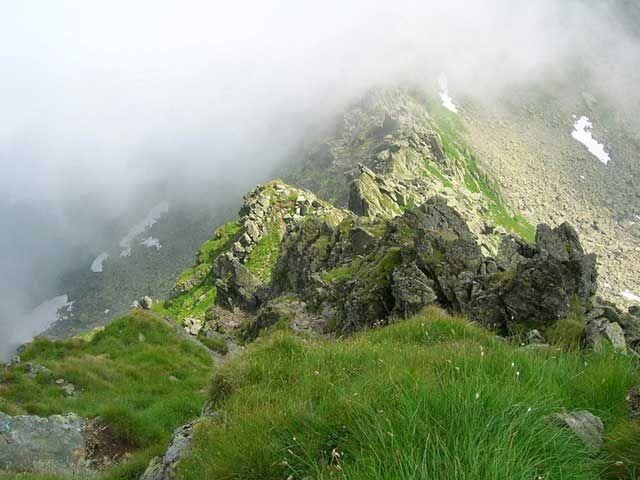 Zdj�cia: Serbota (2331 m), G�ry Fogarskie, Widok z Serboty na szlak, RUMUNIA
