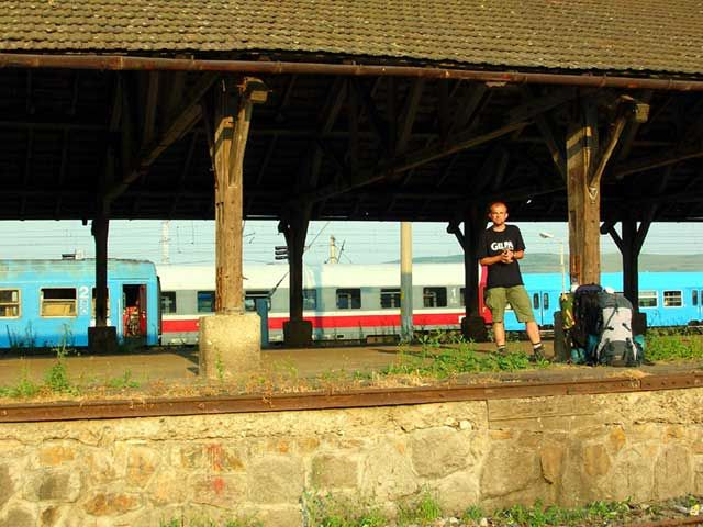 Zdjęcia: Teius, Transylwania, Dworzec w Teius, RUMUNIA