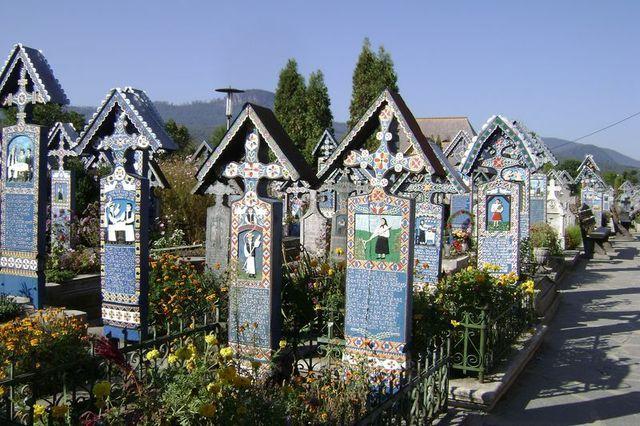 Zdjęcia: północ Rumunii, Wesoły Cmentarz, RUMUNIA